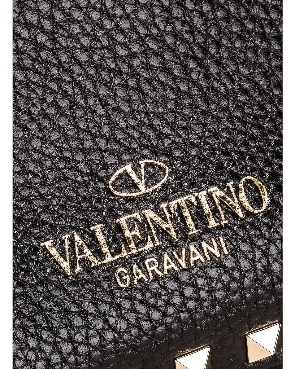 Image 7 of Valentino Rockstud Shoulder Bag in Black