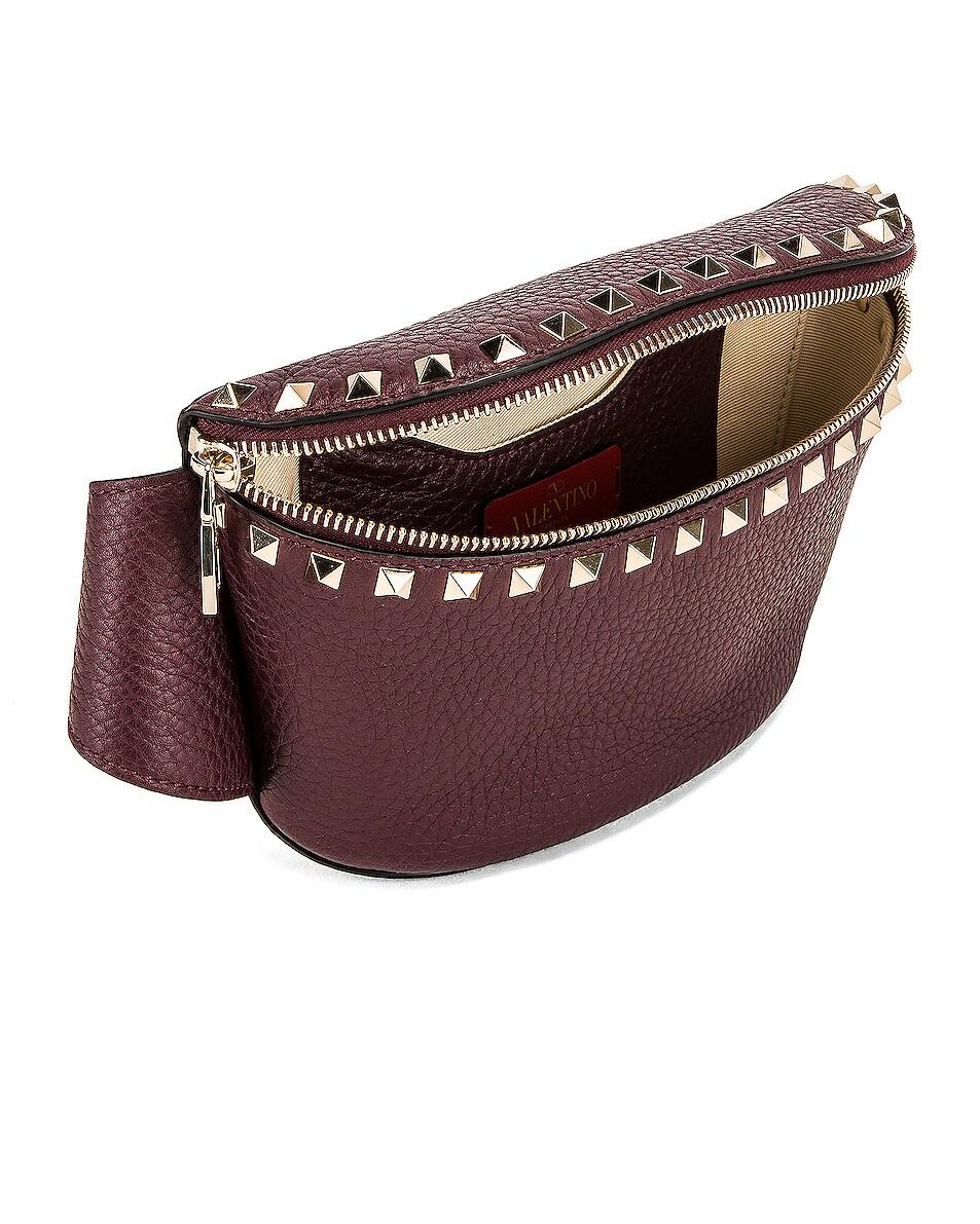 Image 5 of Valentino Rockstud Belt Bag in Rubin