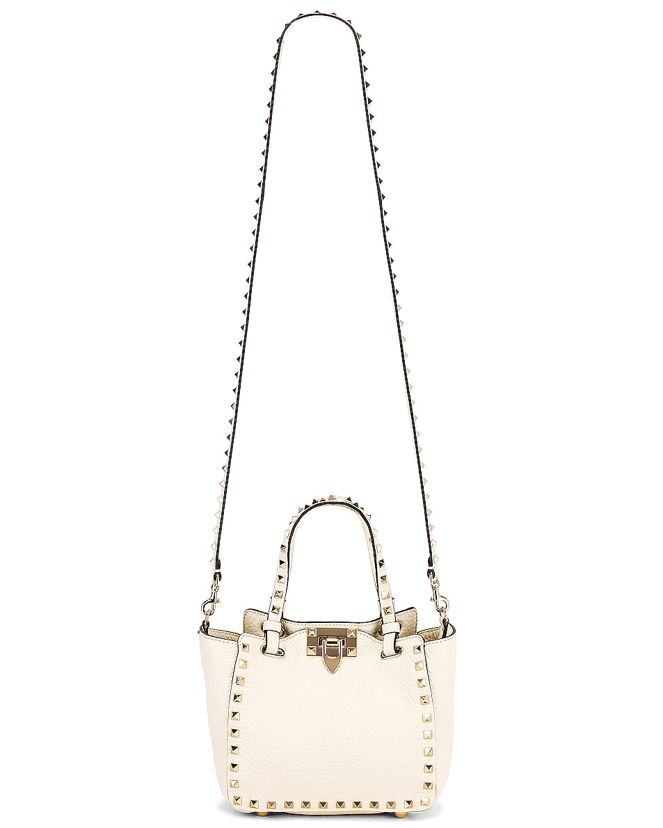 Image 6 of Valentino Rockstud Mini Tote in Light Ivory