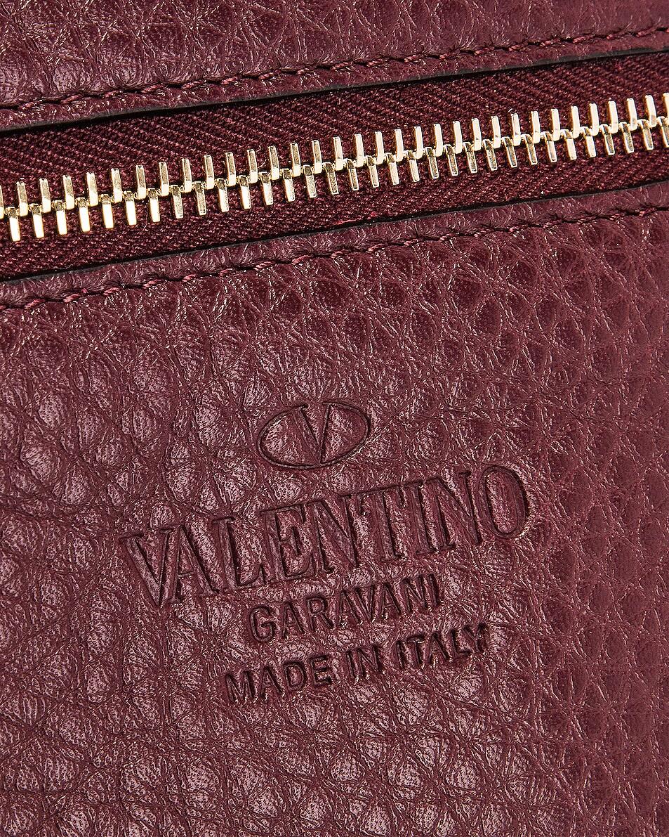 Image 7 of Valentino Rockstud Mini Tote in Rubin