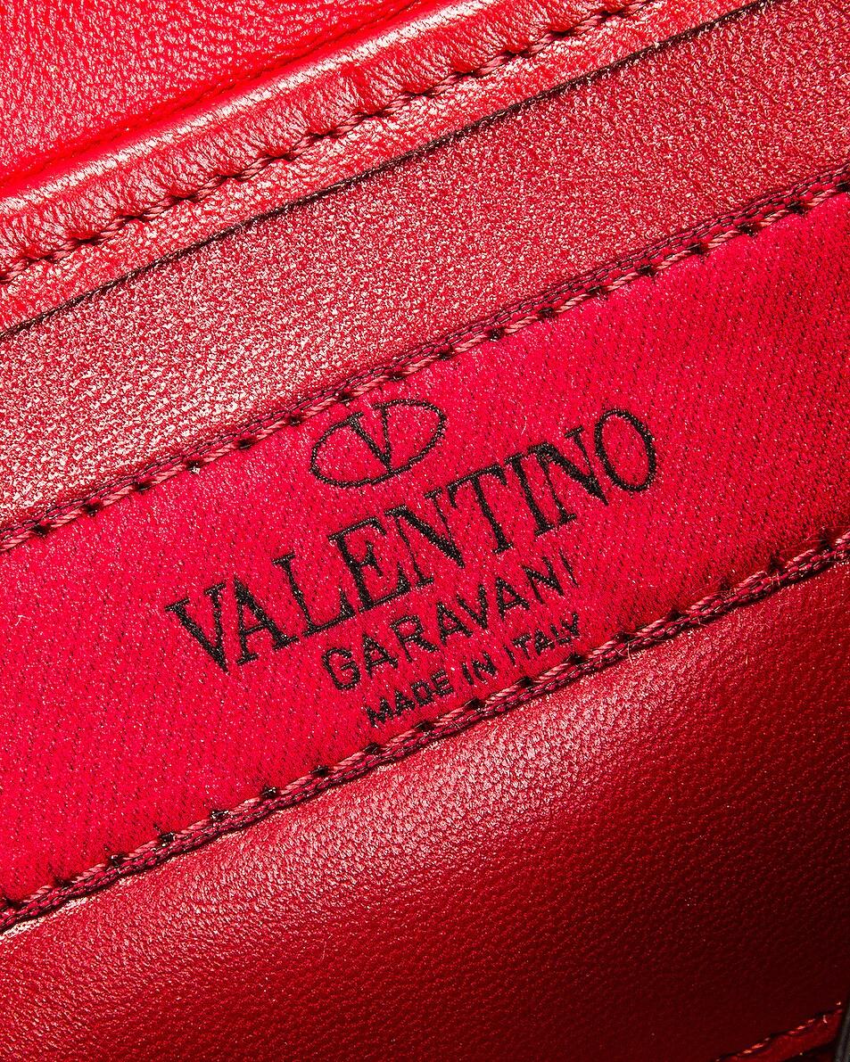Image 7 of Valentino Rockstud Spike Shoulder Bag in Light Denim & Red