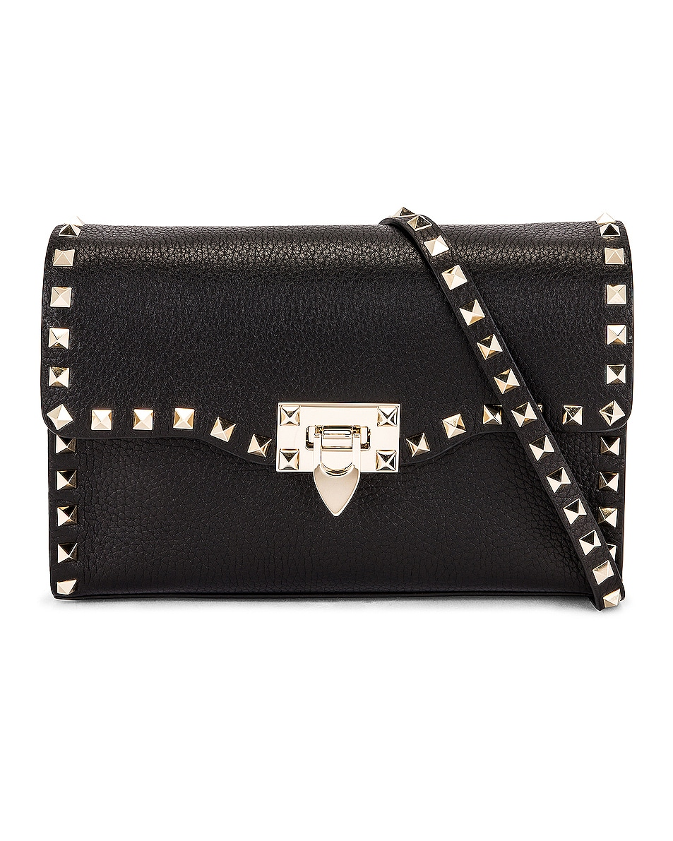 Image 1 of Valentino Rockstud Crossbody Bag in Black