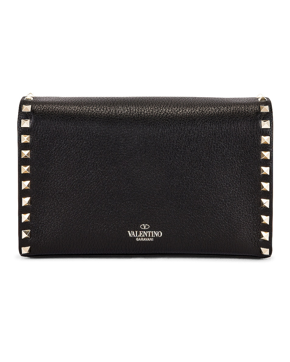 Image 3 of Valentino Rockstud Crossbody Bag in Black