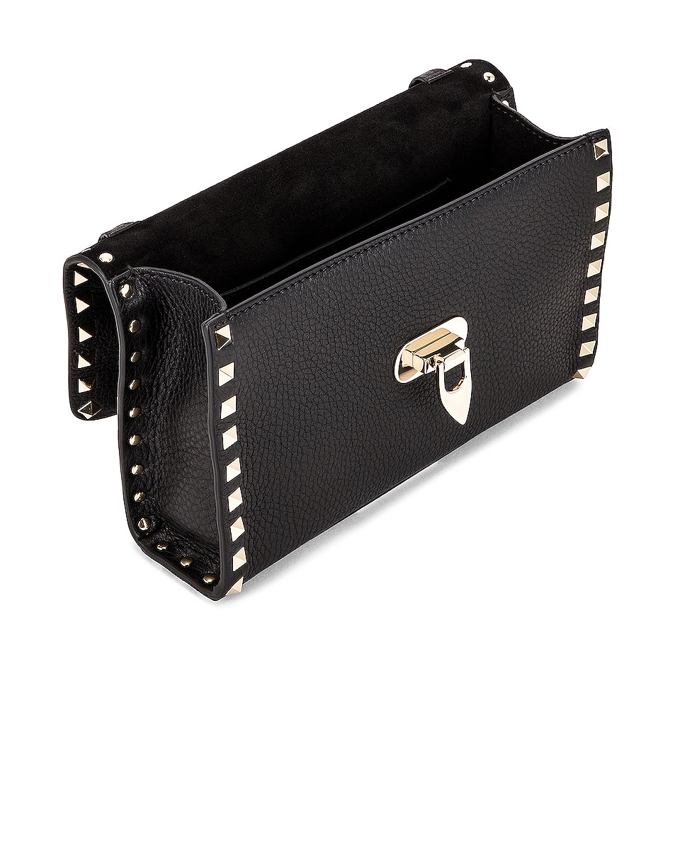 Image 5 of Valentino Rockstud Crossbody Bag in Black