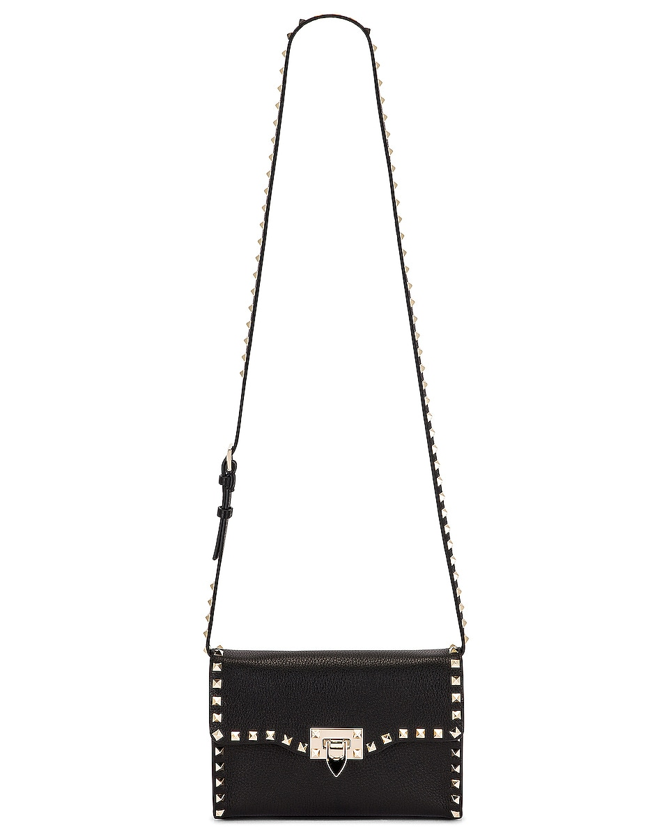 Image 6 of Valentino Rockstud Crossbody Bag in Black