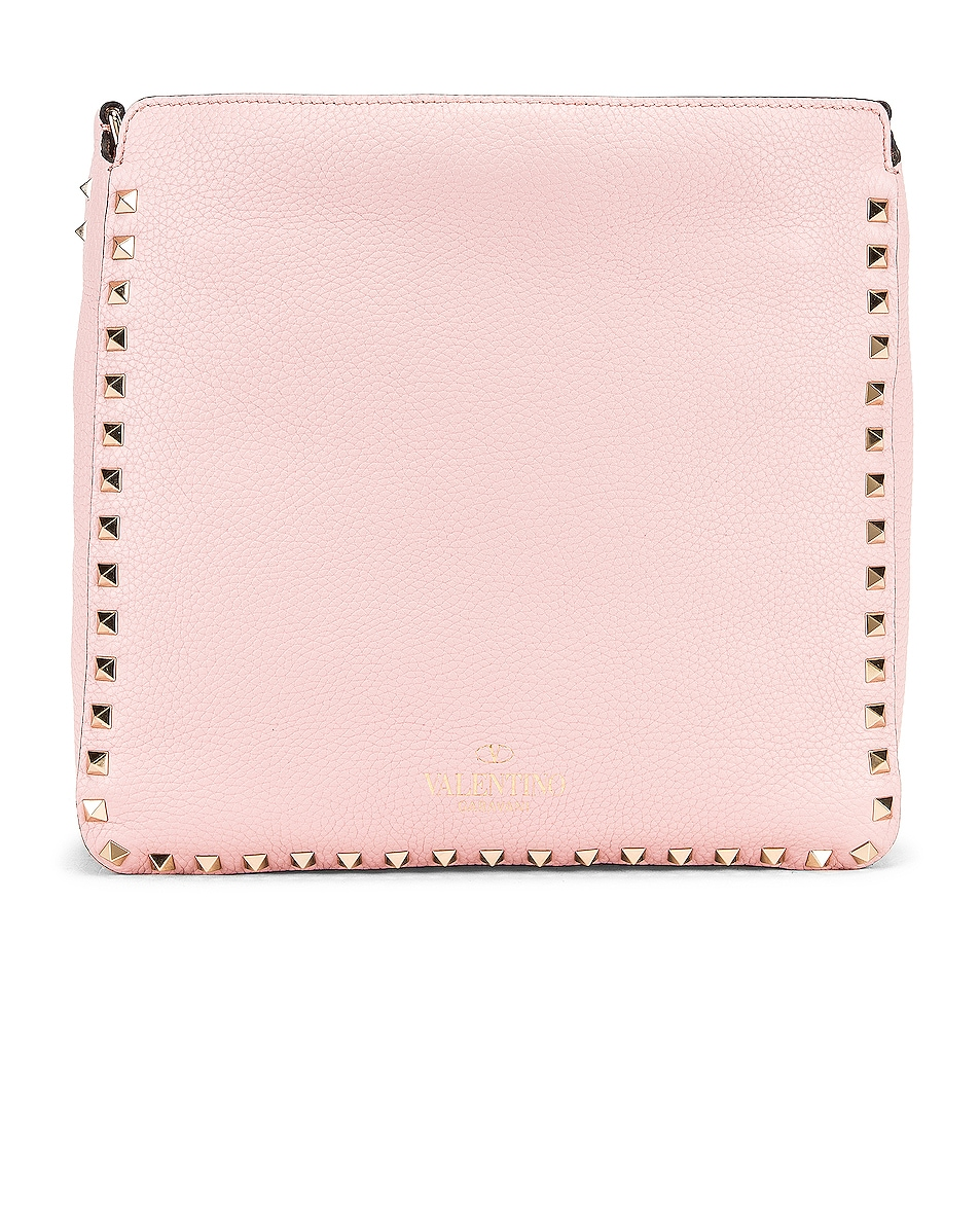 Image 3 of Valentino Rockstud Shoulder Bag in Water Rose
