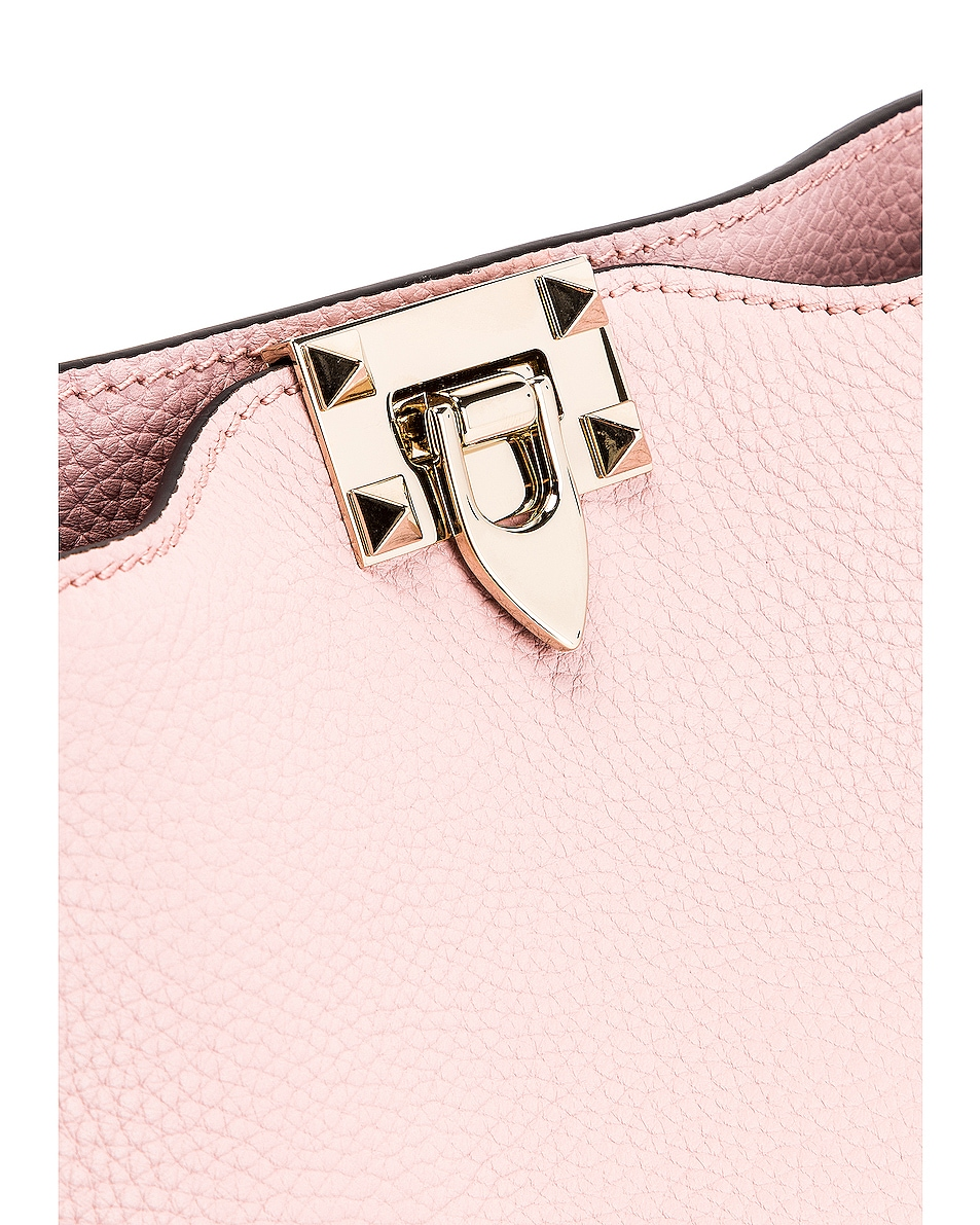 Image 8 of Valentino Rockstud Shoulder Bag in Water Rose