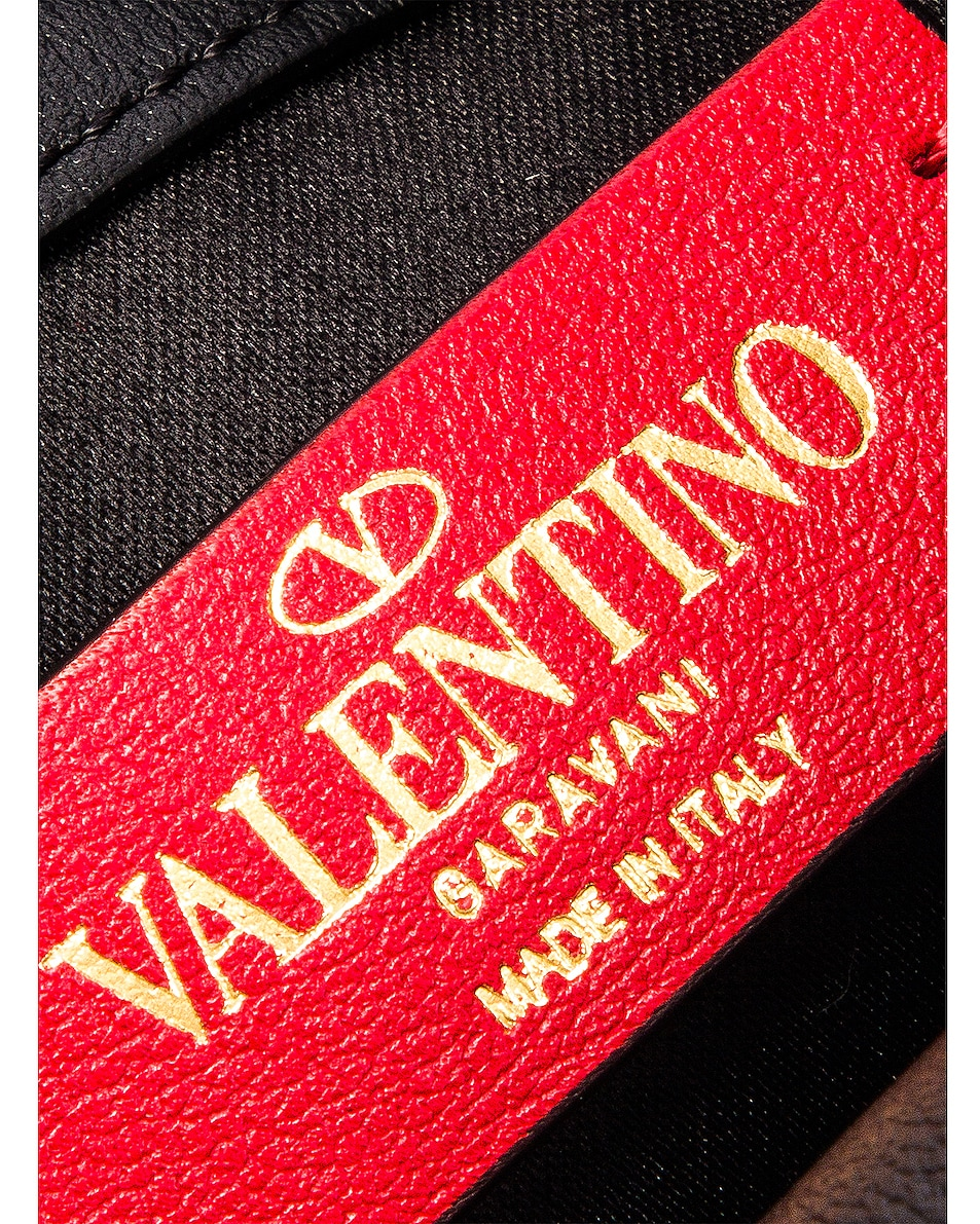 Image 7 of Valentino V Logo Ribbon Crossbody Bag in Black & Red