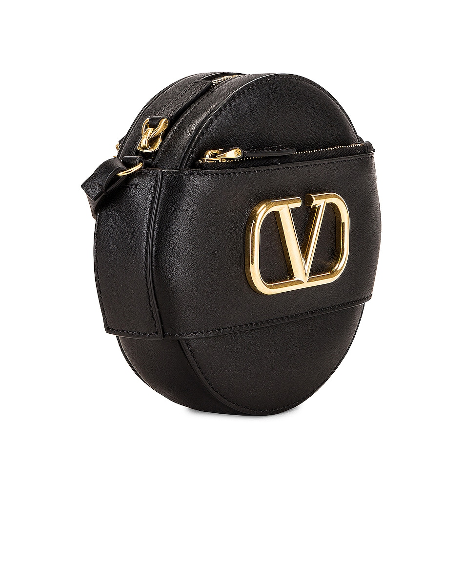 Image 3 of Valentino VLogo Circle Crossbody Bag in Black