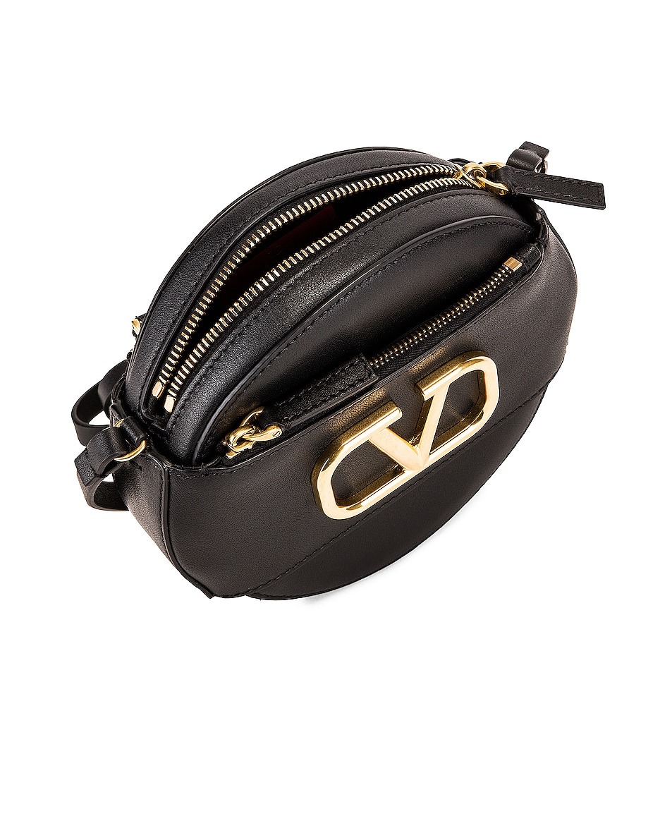 Image 4 of Valentino VLogo Circle Crossbody Bag in Black