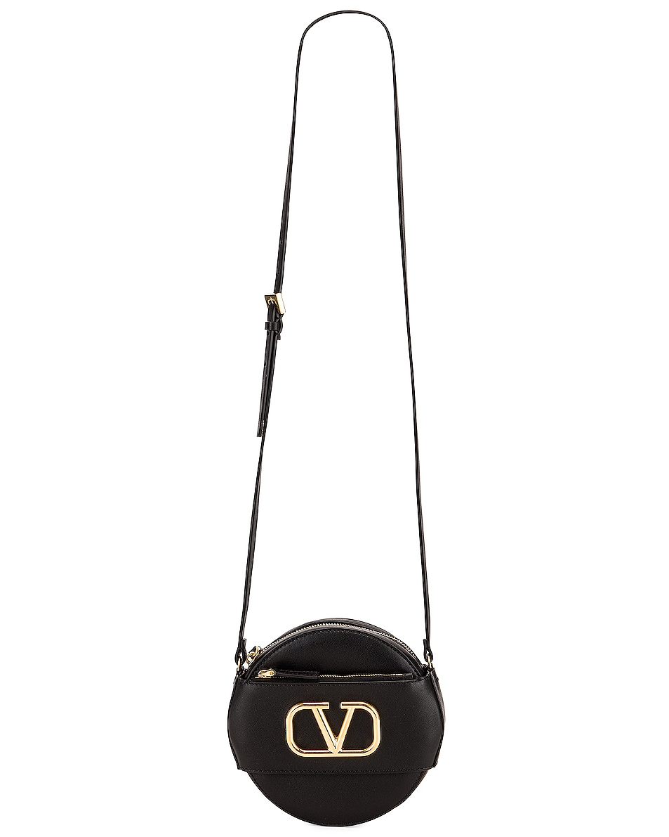 Image 5 of Valentino VLogo Circle Crossbody Bag in Black