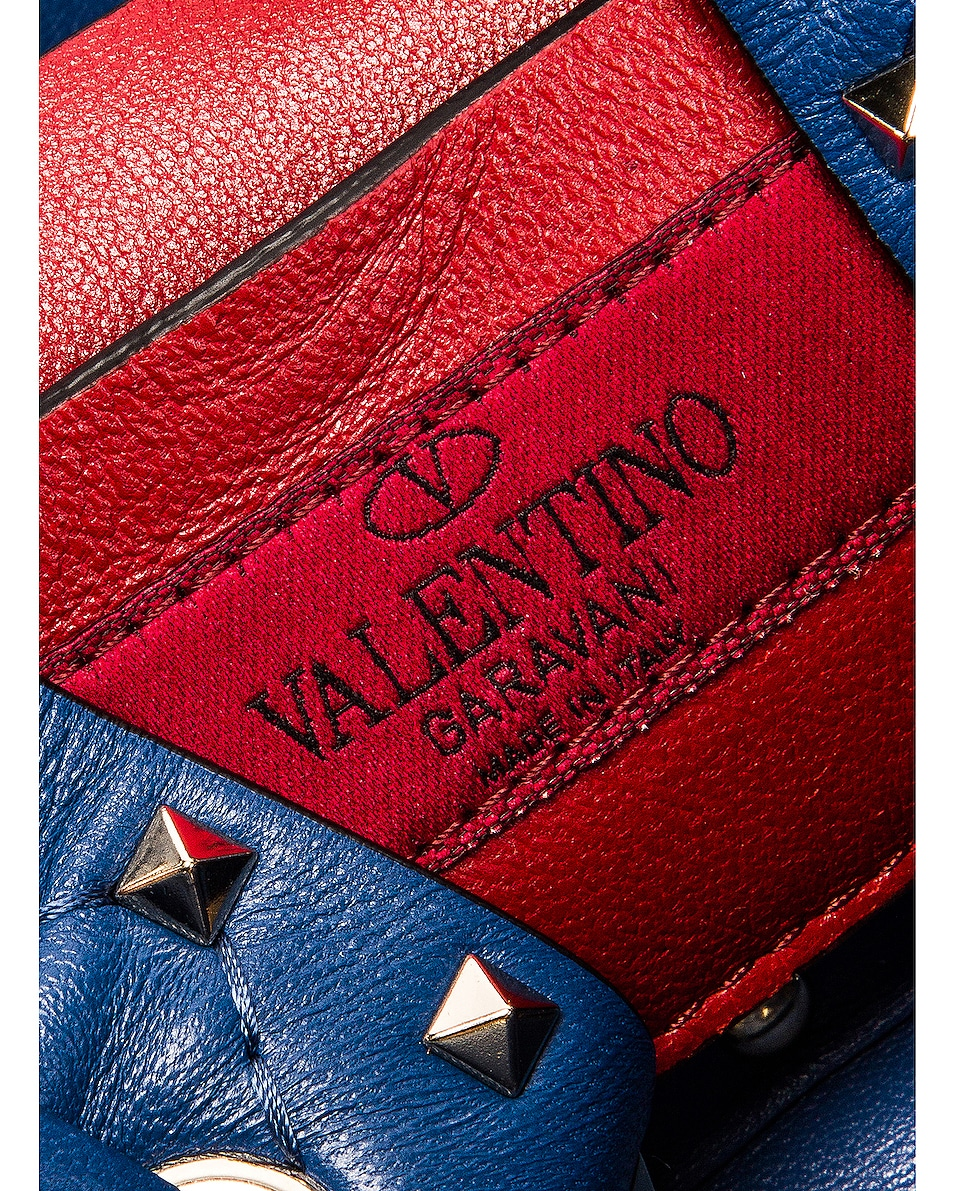 Image 7 of Valentino Rockstud Leather Spike Bucket Bag in Baltique