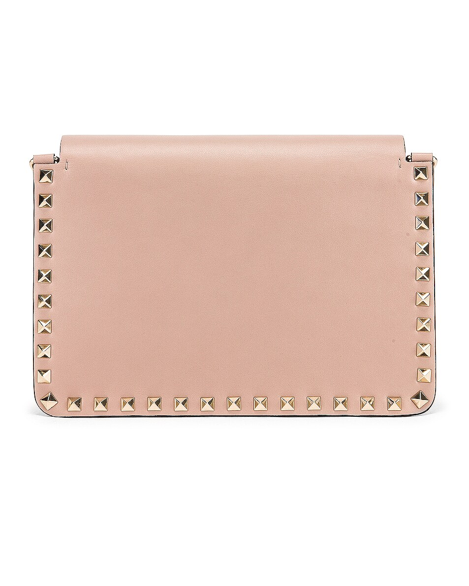Image 3 of Valentino Rockstud Crossbody Camera Bag in Poudre