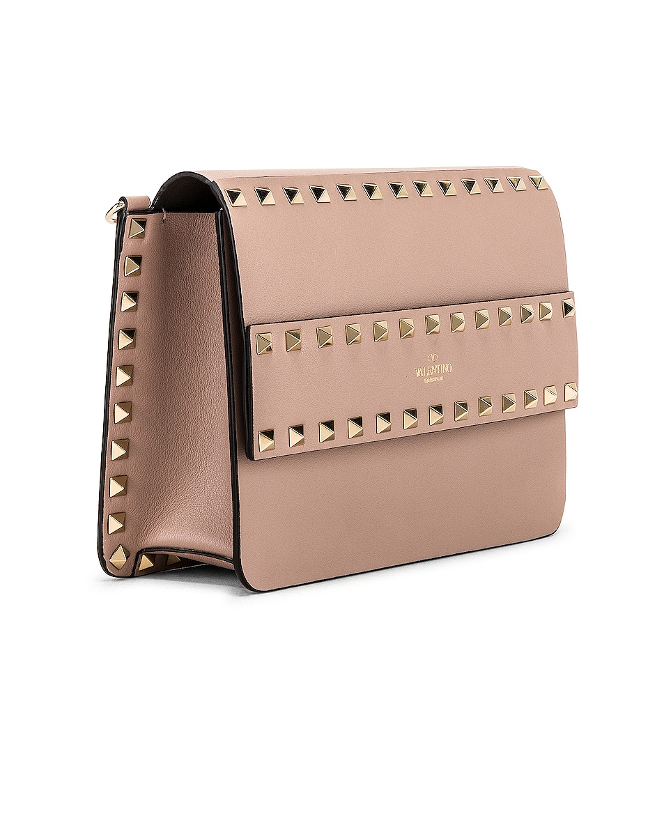 Image 4 of Valentino Rockstud Crossbody Camera Bag in Poudre