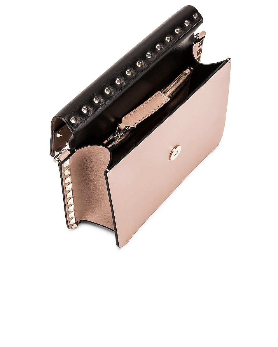 Image 5 of Valentino Rockstud Crossbody Camera Bag in Poudre