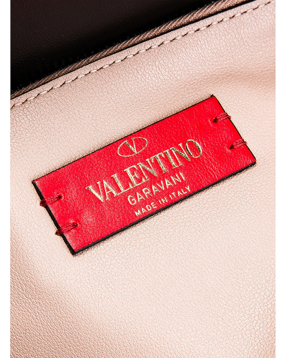 Image 7 of Valentino Rockstud Crossbody Camera Bag in Poudre
