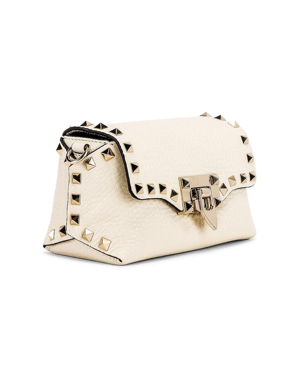 Image 4 of Valentino Rockstud Crossbody Bag in Light Ivory