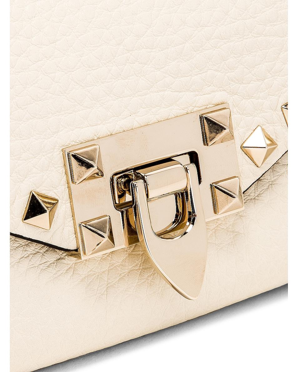 Image 8 of Valentino Rockstud Crossbody Bag in Light Ivory