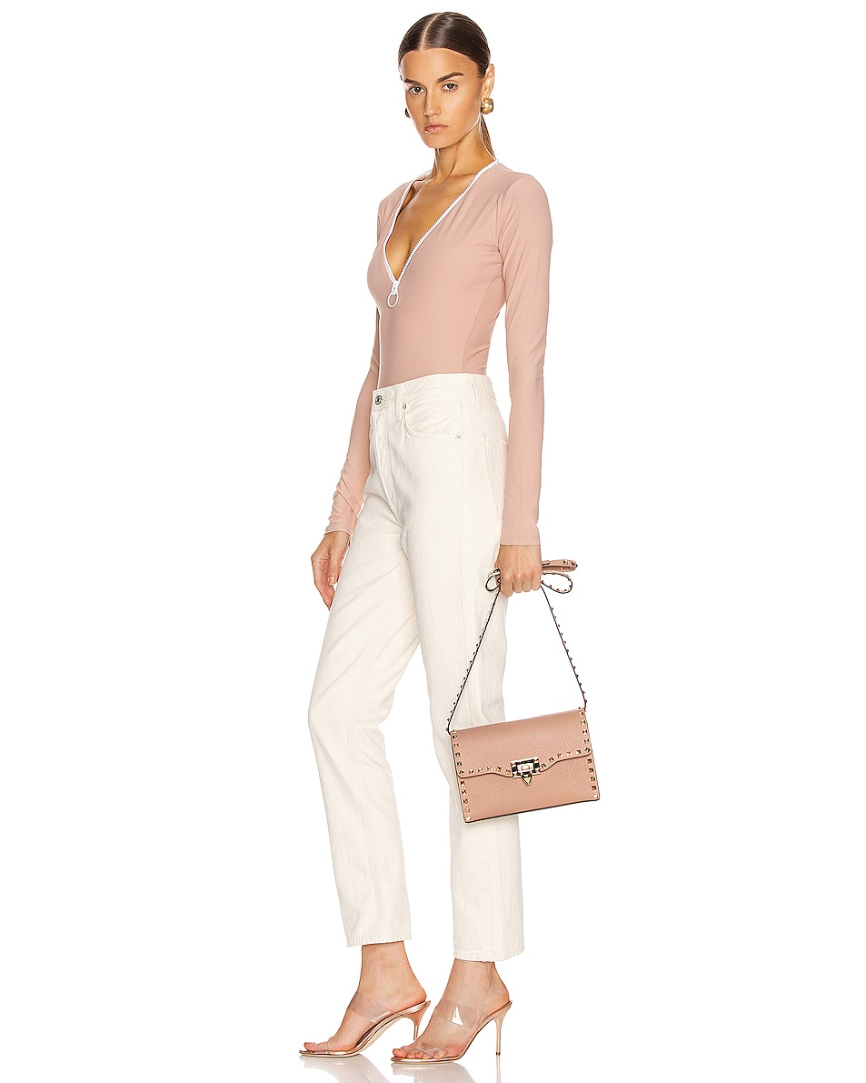 Image 2 of Valentino Rockstud Small Shoulder Bag in Poudre