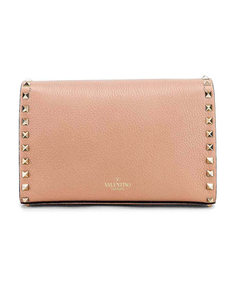 Image 3 of Valentino Rockstud Small Shoulder Bag in Poudre