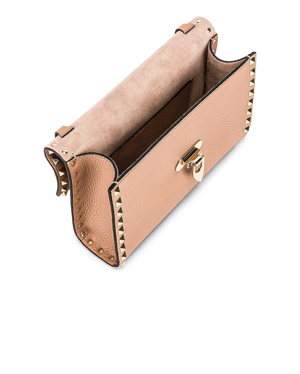 Image 5 of Valentino Rockstud Small Shoulder Bag in Poudre
