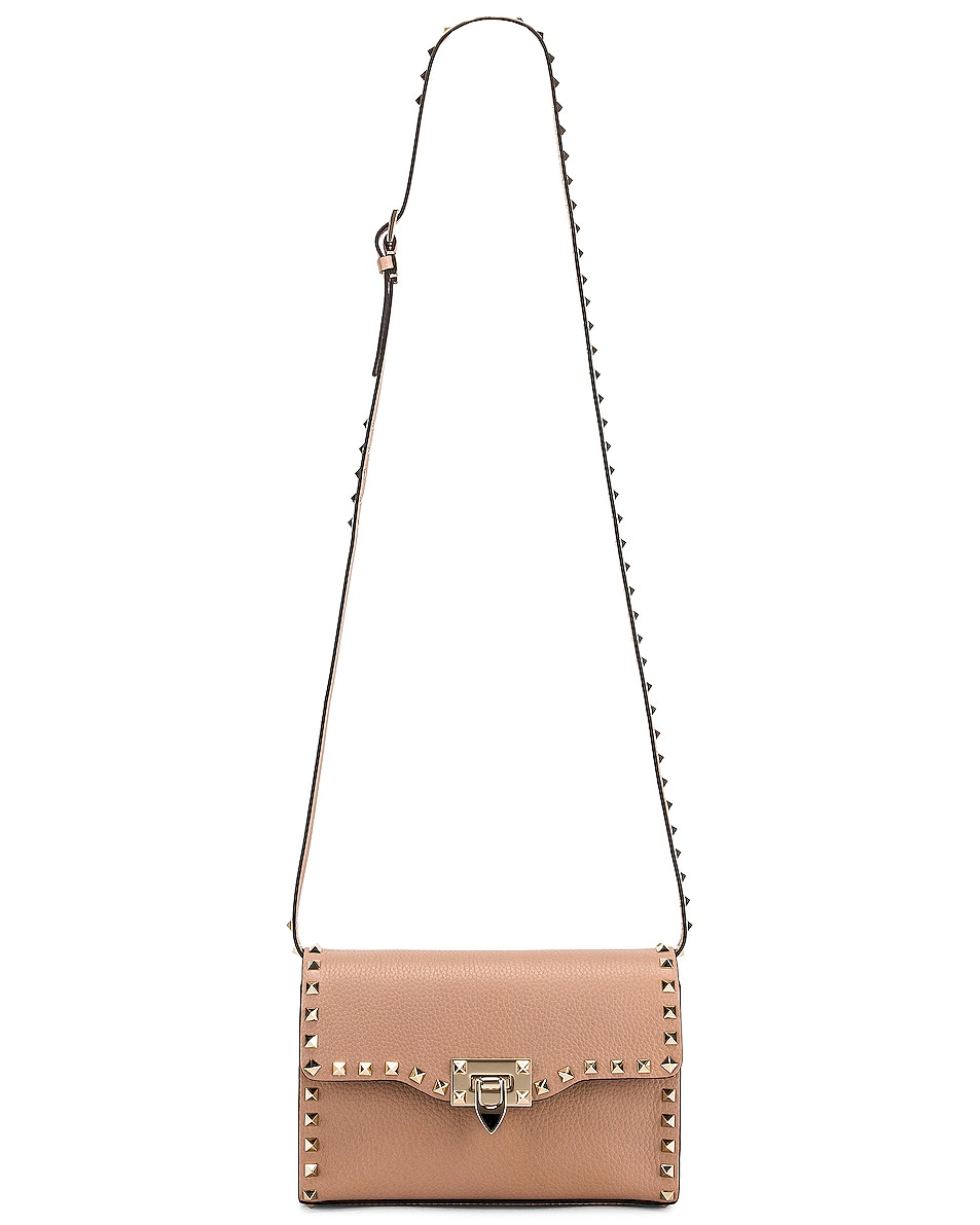 Image 6 of Valentino Rockstud Small Shoulder Bag in Poudre