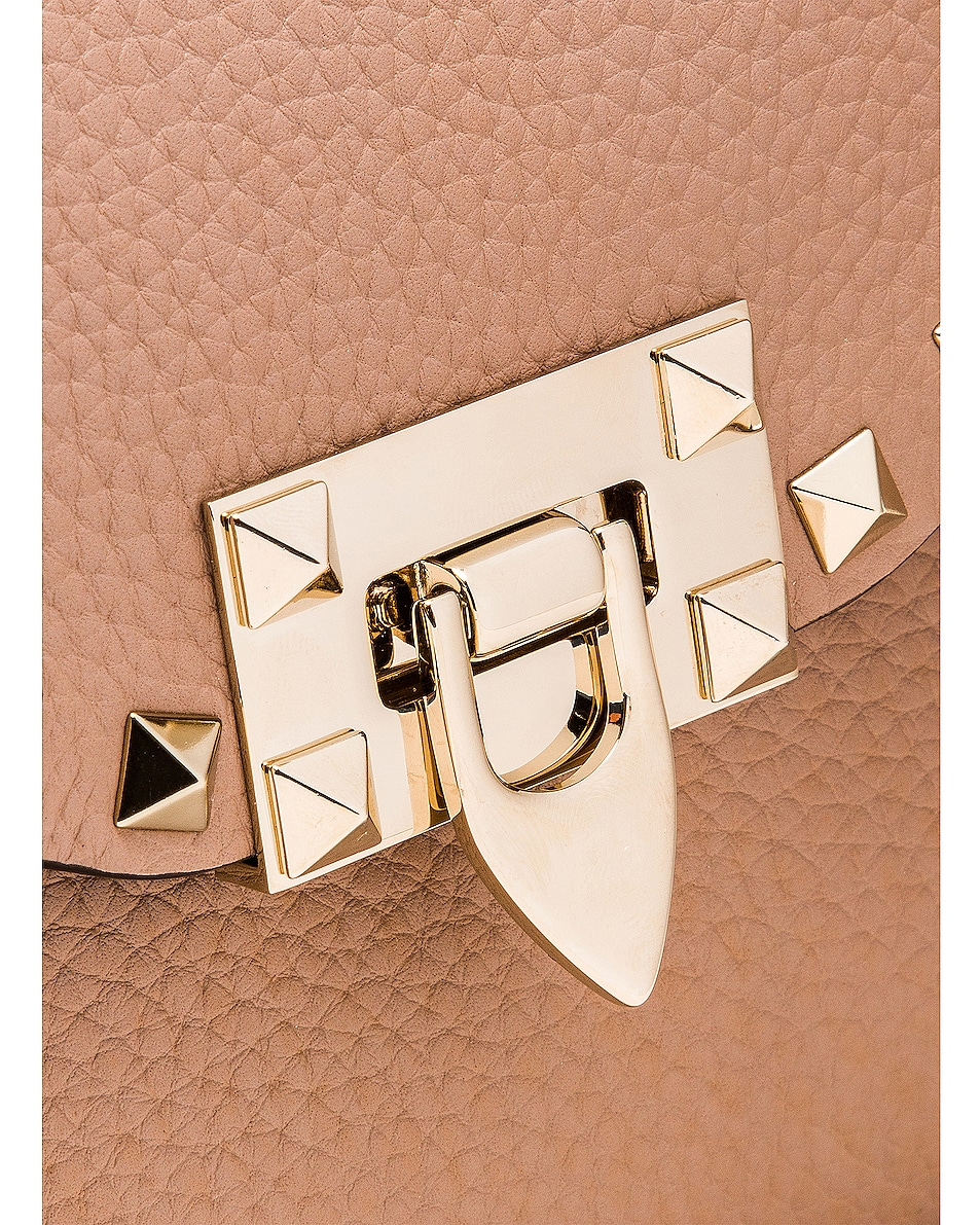 Image 8 of Valentino Rockstud Small Shoulder Bag in Poudre