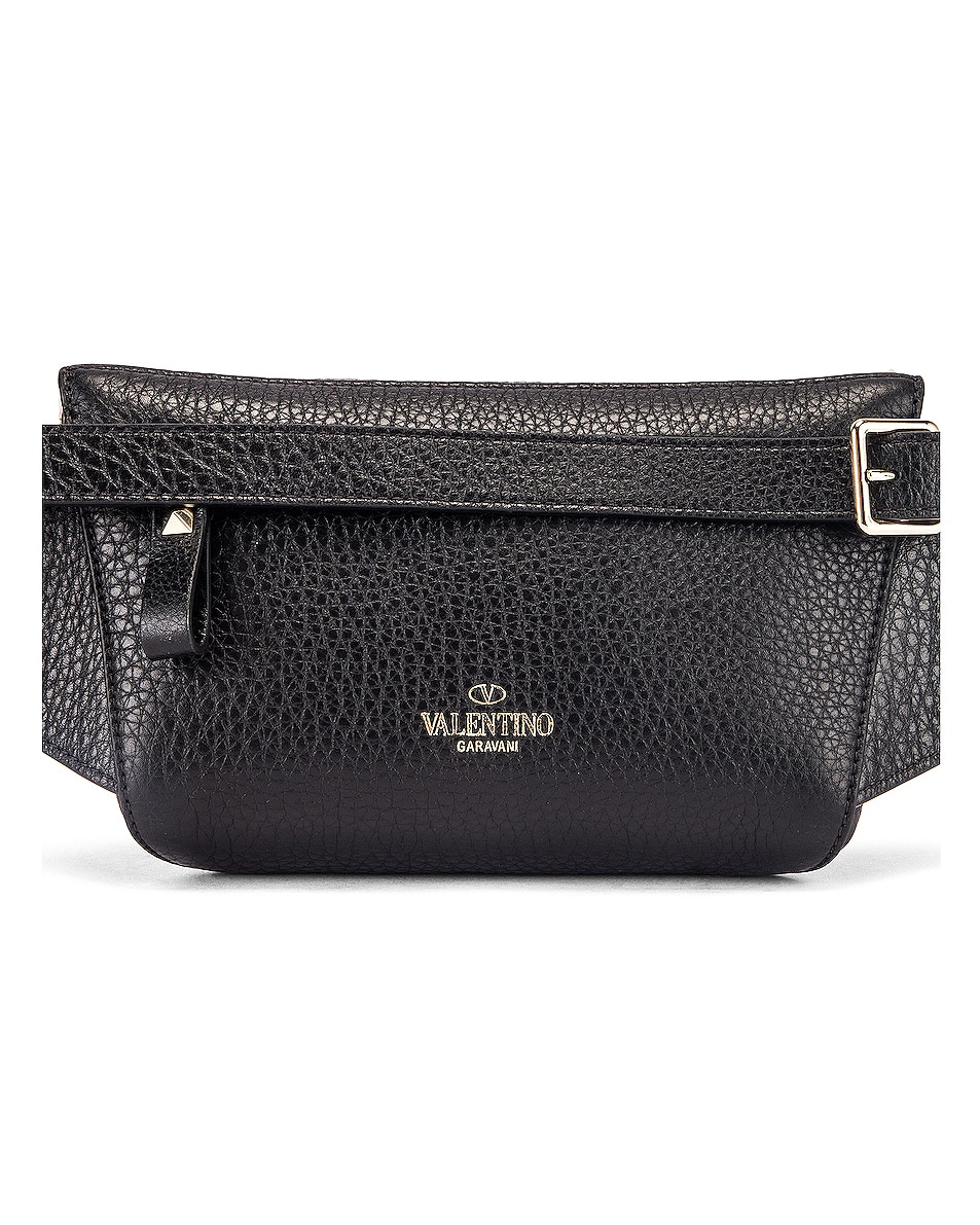 Image 3 of Valentino Rockstud Belt Bag in Black