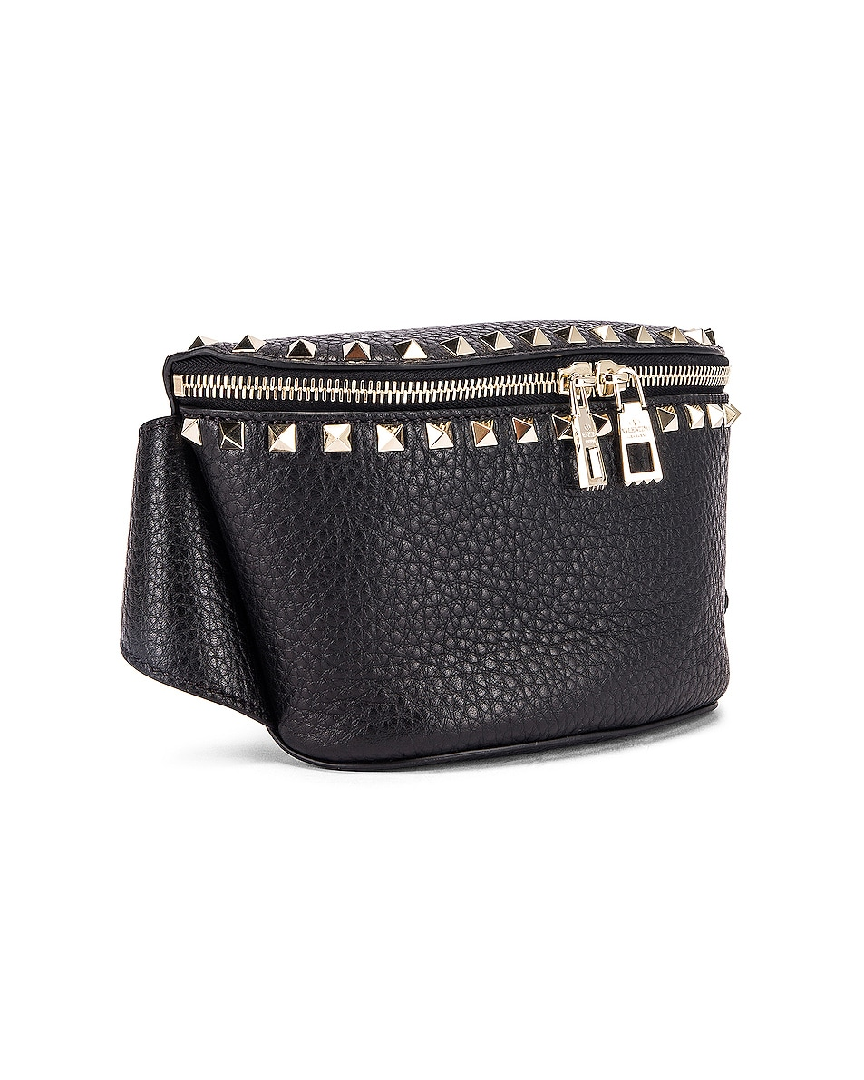 Image 4 of Valentino Rockstud Belt Bag in Black