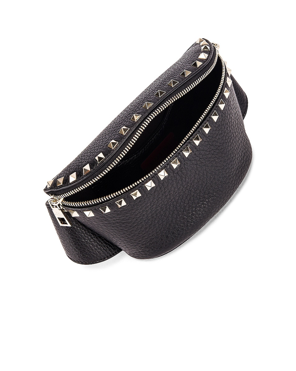 Image 5 of Valentino Rockstud Belt Bag in Black