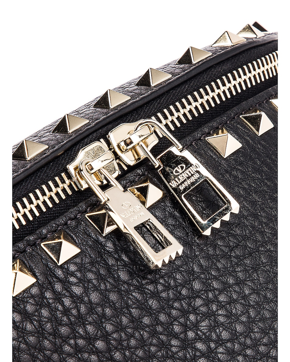 Image 7 of Valentino Rockstud Belt Bag in Black