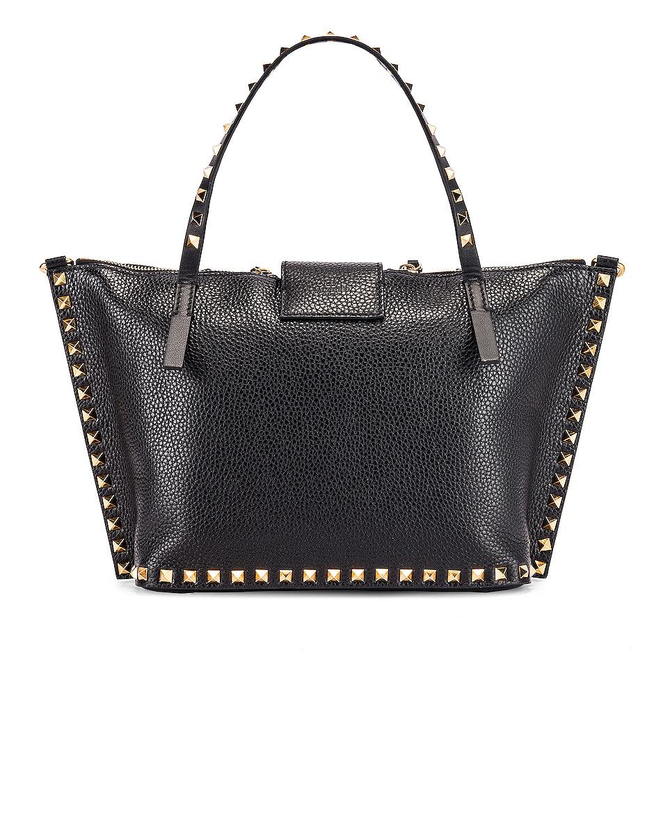 Image 3 of Valentino Rockstud Hype Tote in Black