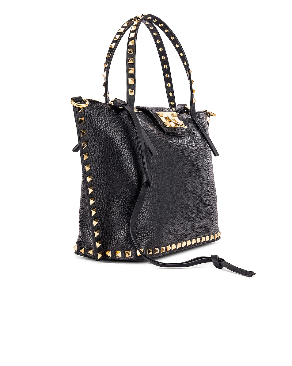 Image 4 of Valentino Rockstud Hype Tote in Black