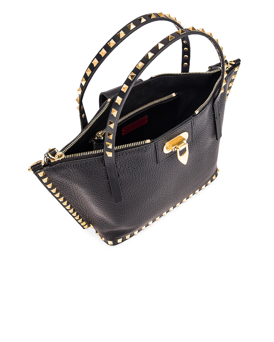 Image 5 of Valentino Rockstud Hype Tote in Black
