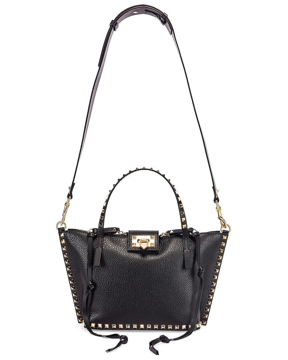 Image 6 of Valentino Rockstud Hype Tote in Black