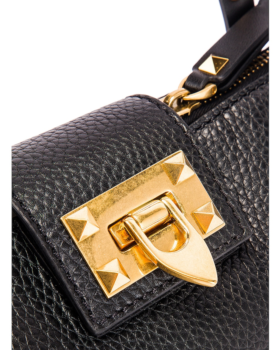 Image 8 of Valentino Rockstud Hype Tote in Black
