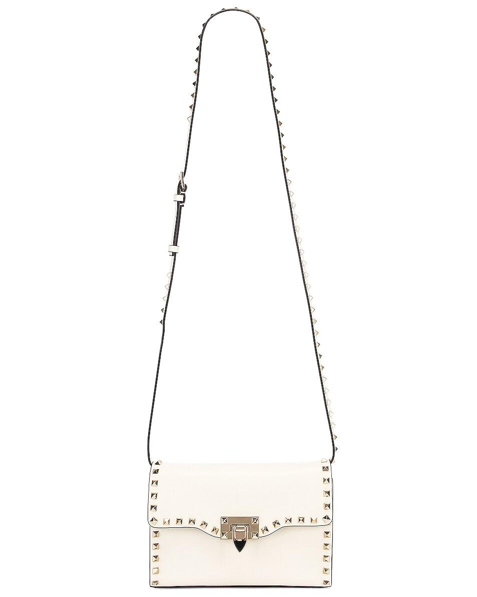 Image 6 of Valentino Rockstud Crossbody Bag in Light Ivory