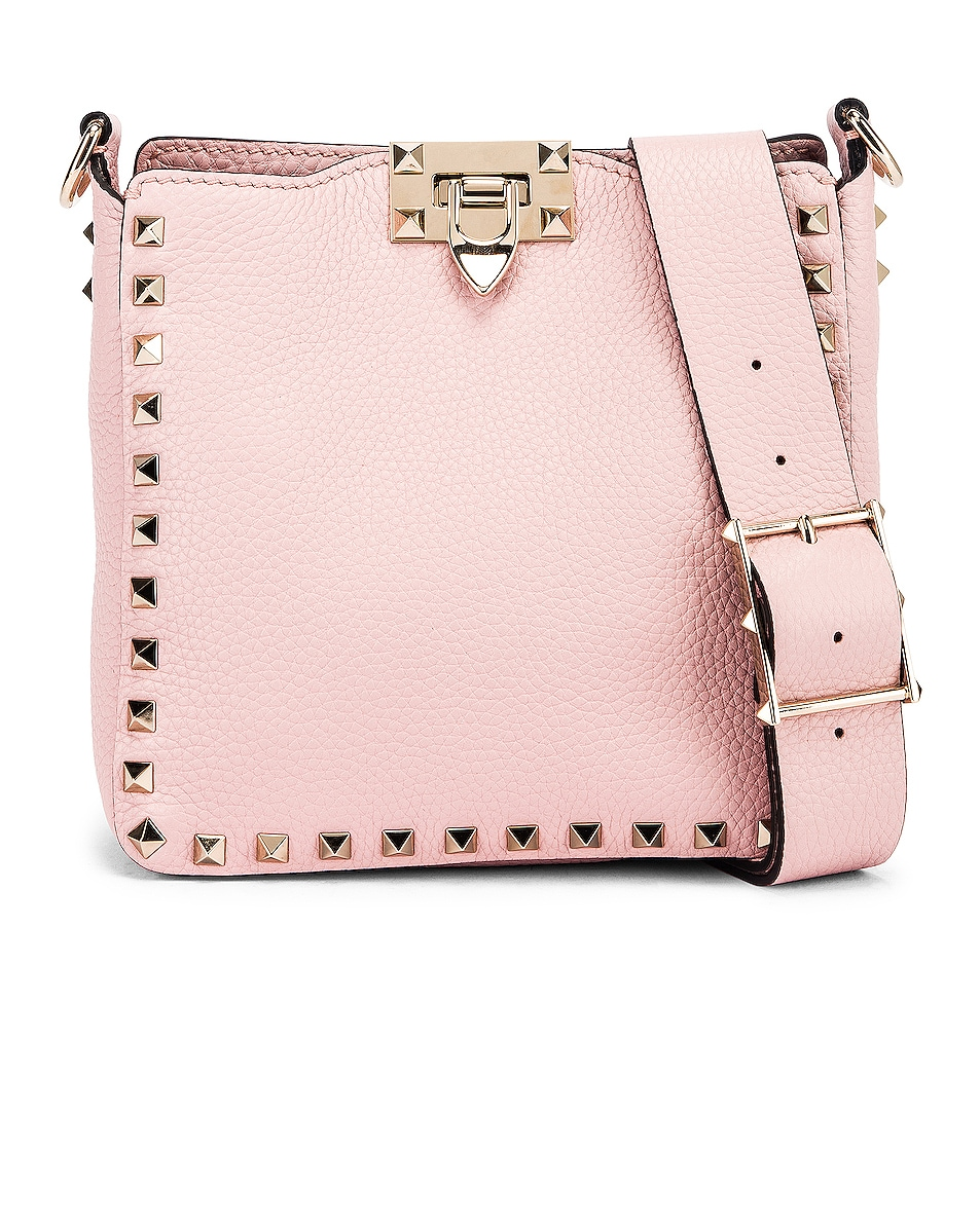 Image 1 of Valentino Rockstud Messenger Bag in Water Rose