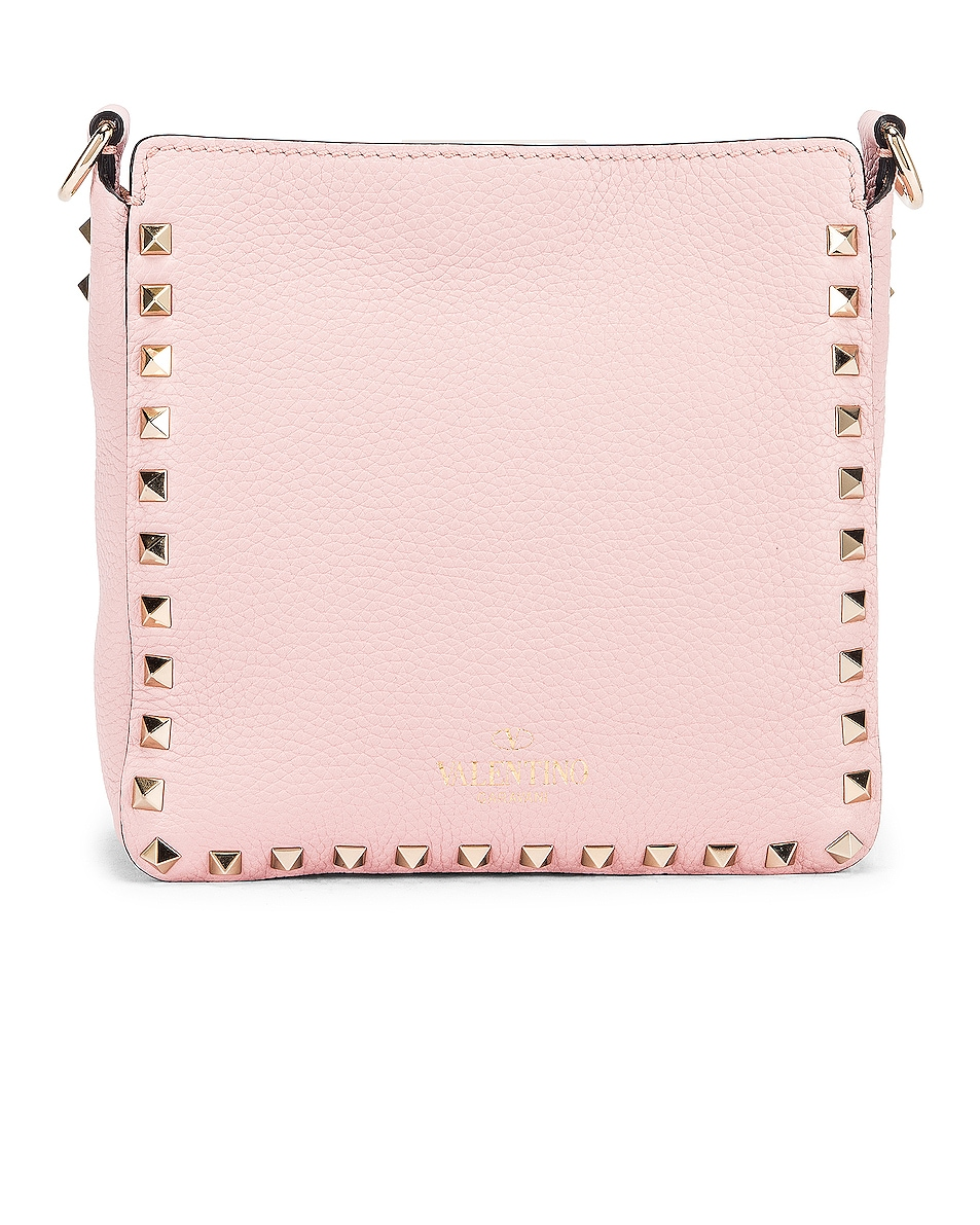 Image 3 of Valentino Rockstud Messenger Bag in Water Rose