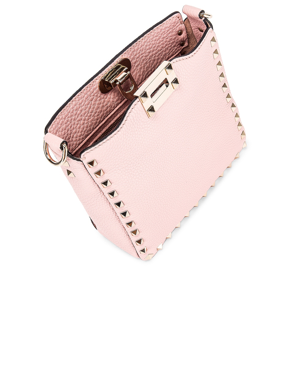 Image 5 of Valentino Rockstud Messenger Bag in Water Rose