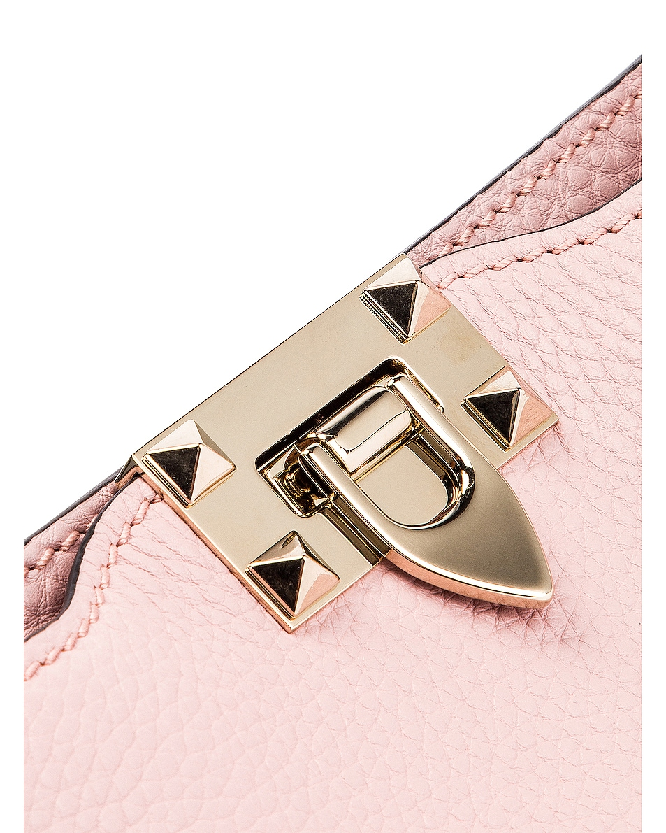 Image 8 of Valentino Rockstud Messenger Bag in Water Rose