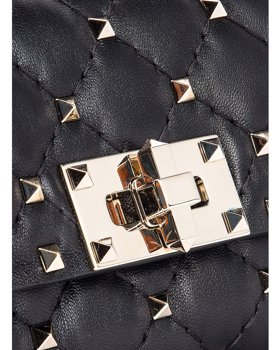 Image 7 of Valentino Rockstud Spike Belt Bag in Black