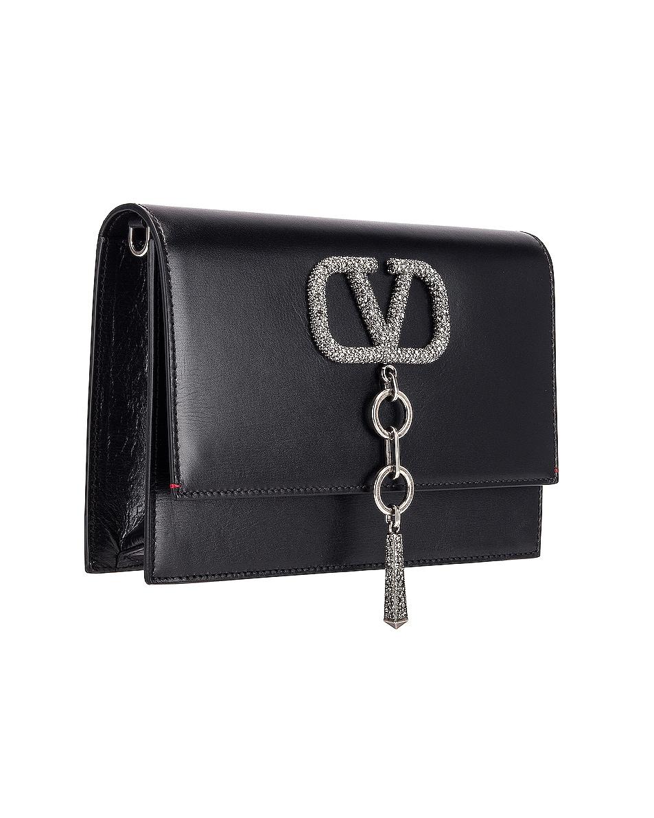 Image 4 of Valentino VRing Case Crossbody Bag in Black Diamond