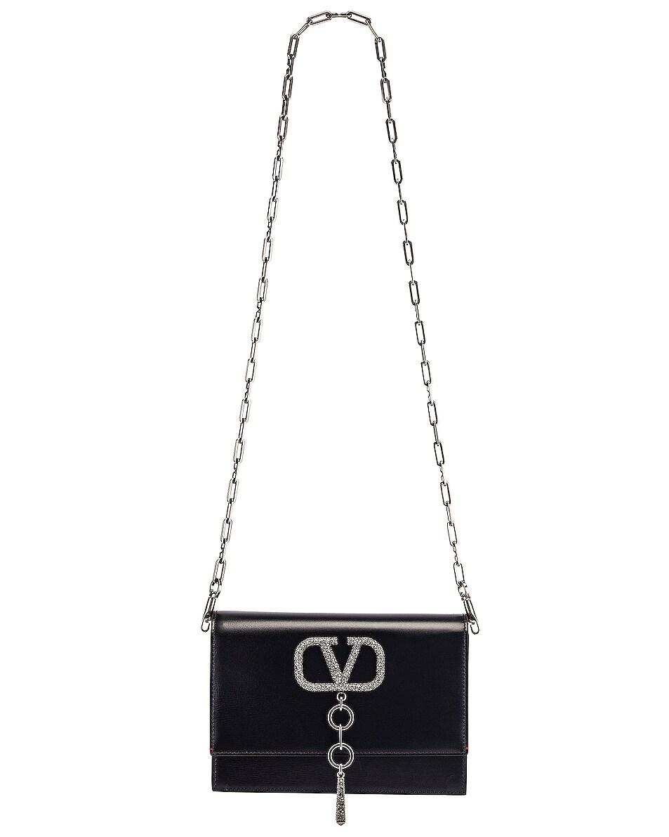 Image 6 of Valentino VRing Case Crossbody Bag in Black Diamond
