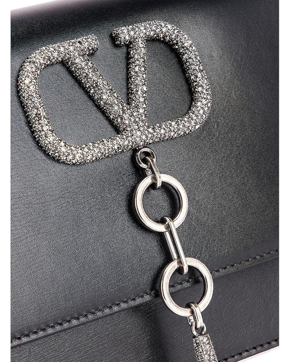 Image 8 of Valentino VRing Case Crossbody Bag in Black Diamond