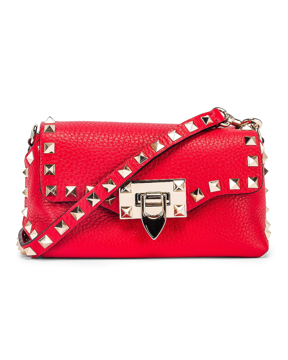 Image 1 of Valentino Rockstud Crossbody Bag in Red