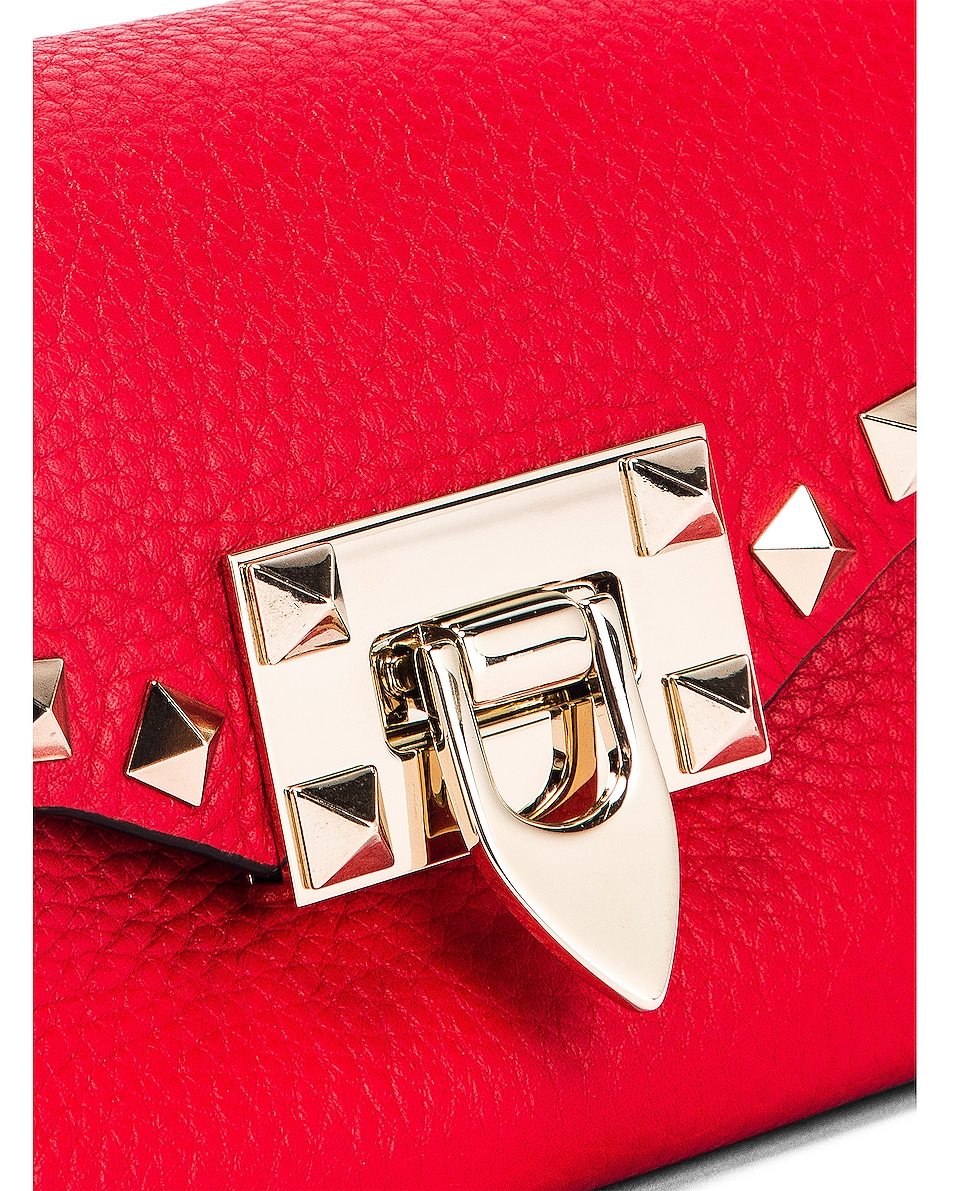 Image 8 of Valentino Rockstud Crossbody Bag in Red