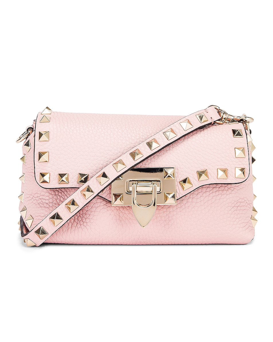 Image 1 of Valentino Garavani Rockstud Crossbody Bag in Water Rose