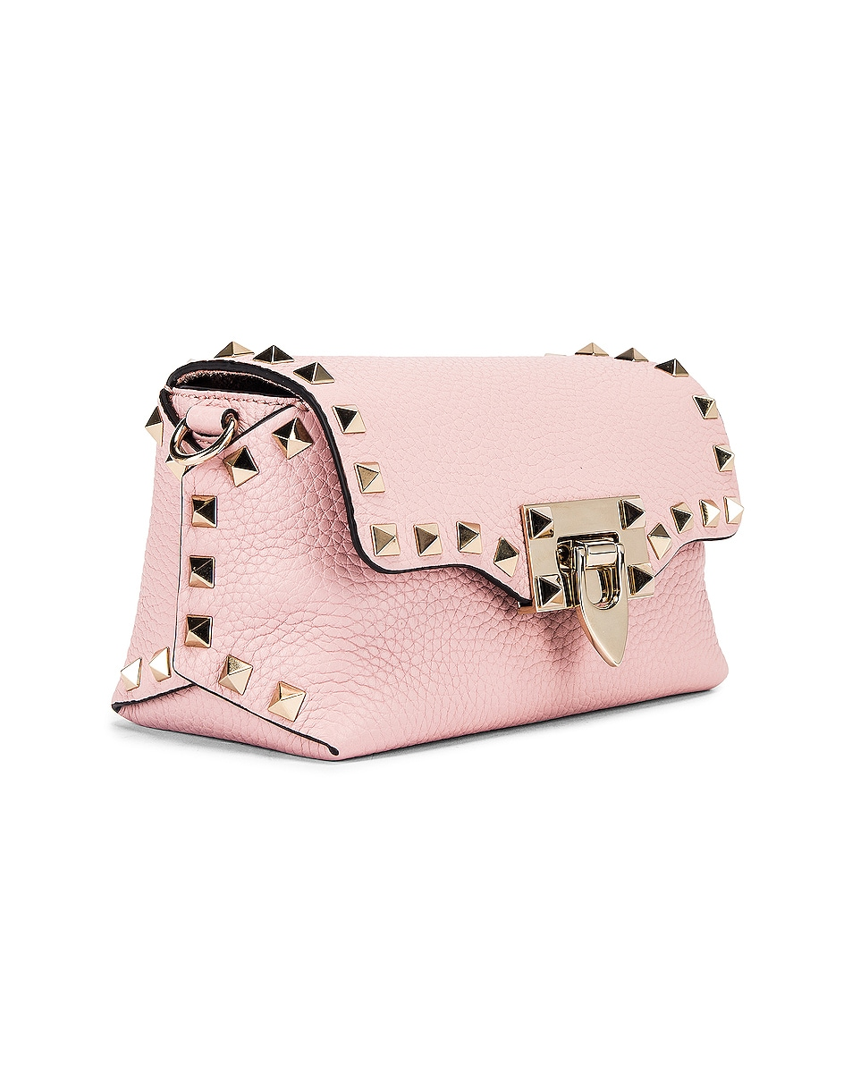 Image 4 of Valentino Rockstud Crossbody Bag in Water Rose