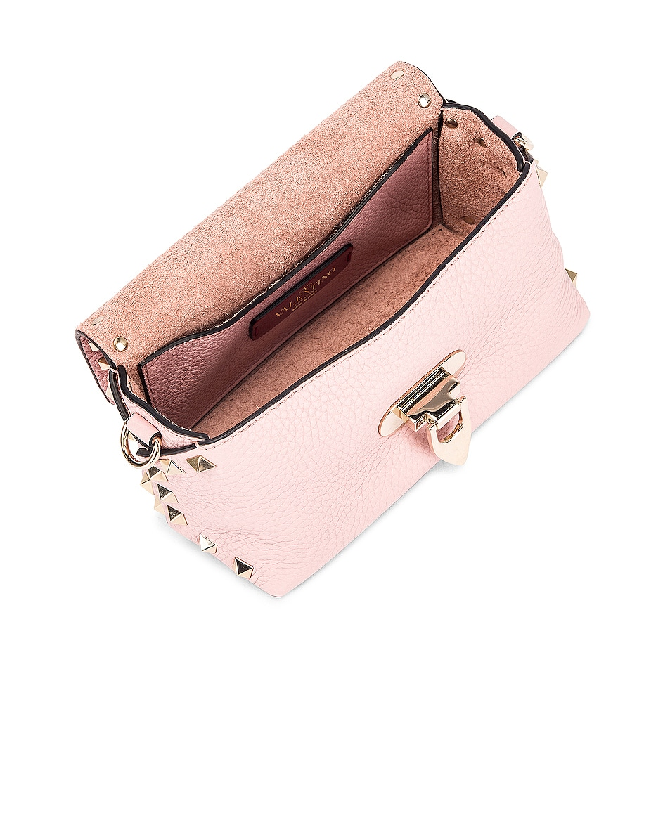 Image 5 of Valentino Rockstud Crossbody Bag in Water Rose